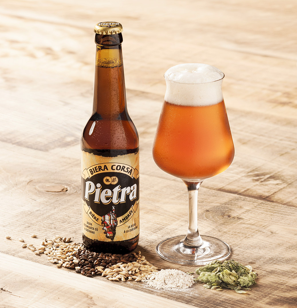 Pietra beer made with Corsican chestnut flour