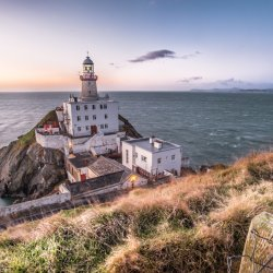 Howth's Lighthouse at night overlooking Howth, Dublin (Photograph Rob Durston © Fáilte Ireland).