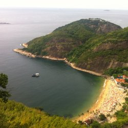 Praia Vermelha seen from the Sugar Loaf Mountain