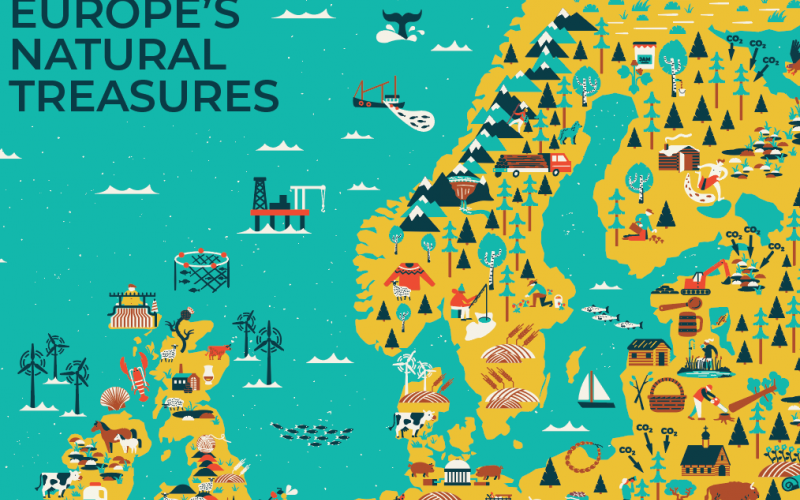 europes natural treasures an illustrated ecosystem services map
