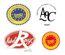 Logos of various labels