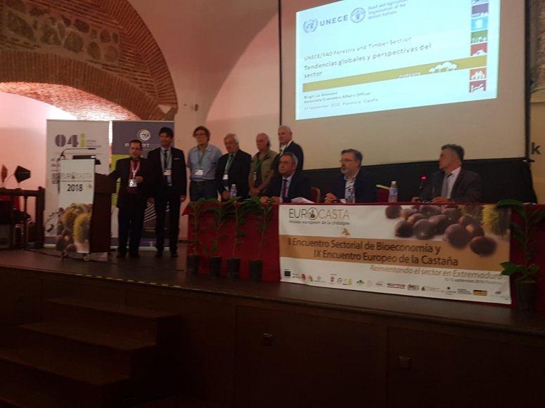 Signature of constitution of Eurocastanea in Plasencia (Spain)