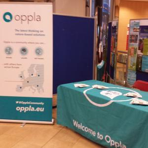 Oppla stand at the info day