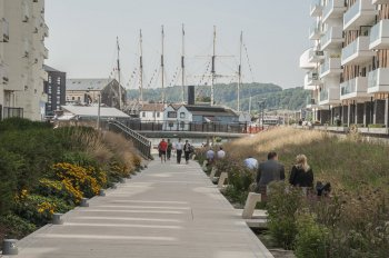 Bristol Harbourside's Millenium Promenade - credit to Grant Associates