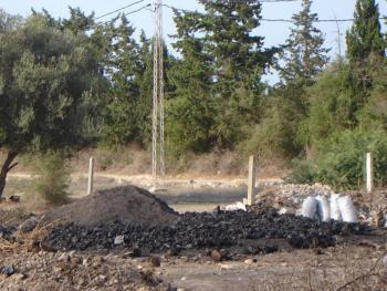 Coal minning at Cap Bon