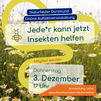 Invitation for the first online information meeting for Naturfelder Dortmund e.V.