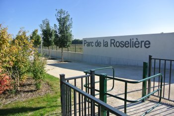 Entrance of the Reed bed Park (Parc de la Roselière)
