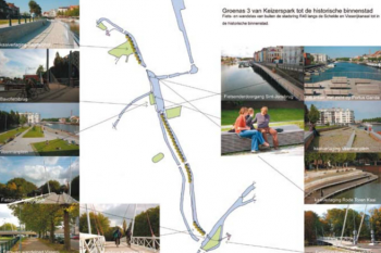 UrbanGaia case-study sites in Ghent
