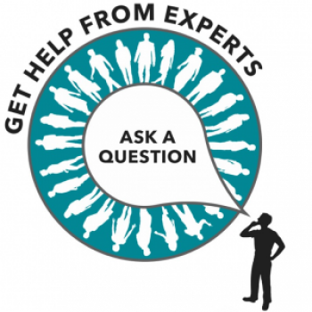 Ask Oppla infographic: Ask a question, get help from experts