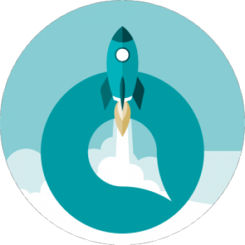 Oppla rocket launch graphic