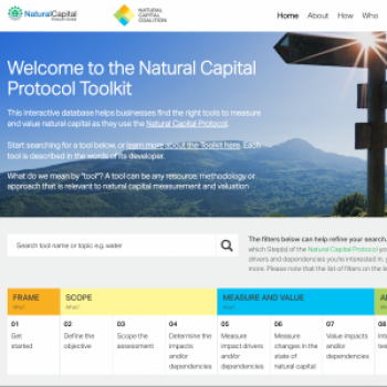 Natural Capital Protocol Toolkit