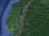 Ecuador from Google Earth Engine where significant forest portion of the country can be seen
