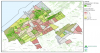 Tree volume measured in m3/parcel (in increasing green colours) and in m3/inhabitant per neighbourhood in The Hague.