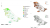 (a) Green infrastructure and (b) soil cover and (c) canopy cover maps for the study area.